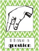 Silent Hand Signal Posters for the Classroom (Green & Pink
