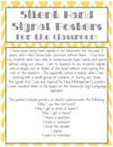 Silent Hand Signal Posters for the Classroom (Yellow & Grey)