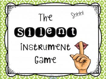 Silent Instrument Game SMARTBoard Edition