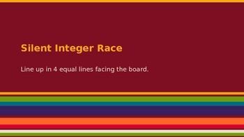 Silent Integer Race - Integer Operation Game