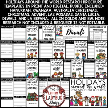 Christmas Around The World Research Project & Winter Holidays Around The World