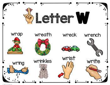Silent Letter Consonants Bundle -mb -dg kn and wr