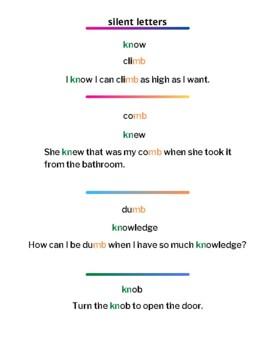 Silent Letter Digraph Worksheets