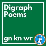 Digraphs:  Silent Letter Consonant Digraph Poems