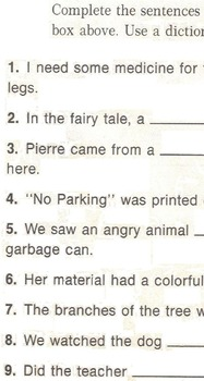Silent Letter GN Worksheet: Use a word box to fill-in GN words for 9 sentences.
