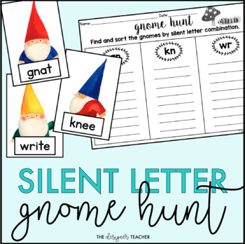 Silent Letter Gnome Hunt {GN, KN, & WR Sort}