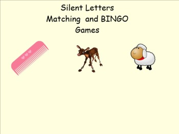 Silent Letter Matching and BINGO Games Smartboard
