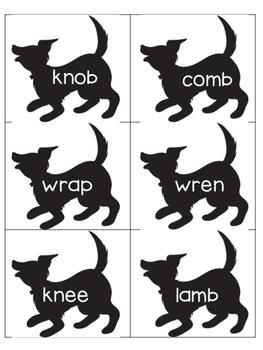"Silent Letter Pairs Literacy Center (Grade 2 Reading Street ""Bad Dog, Dodger!"")"