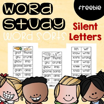 Silent Letter Word Sorts