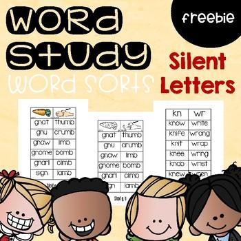 Silent Letter Word Sorts
