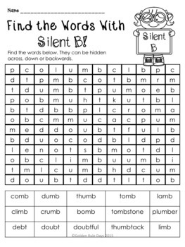 silent letters 30 no prep printables word sorts and making words