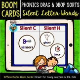 Silent Letters | Boom Cards | Phonics Drag and Drop Sorts