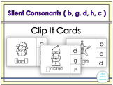Silent Letters Clip It Cards ( b, g, d, c, h)