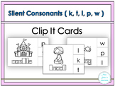 Silent Letters Clip It Cards ( k, t, l, p, w)
