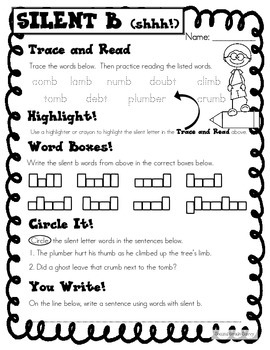 Silent Letters Word Work