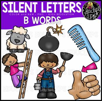 Silent Letters  - Consonants Clip Art Bundle {Educlips Clipart}