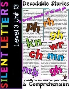 Silent Letters Decodable Reading Passages  Level 3 Unit 13 (wr, kn, gn, mb)