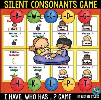 """Silent Letters Game """"I have, who has"""""""