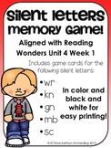 Silent Letters Memory Game---Aligned with Reading Wonders