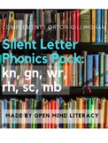 Silent Letters Phonics Pack:  kn, gn, rh, sc, wr, mb, gh