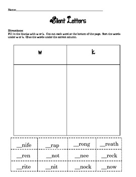 silent letters phonics packet by savvy second graders tpt. Black Bedroom Furniture Sets. Home Design Ideas
