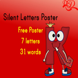 Silent Letters Poster **FREE** 7 LETTERS @GREAT COLORS@