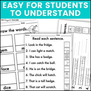 NO PREP Trigraphs, Silent Letters, & Soft Letters Letters Word Work BUNDLE
