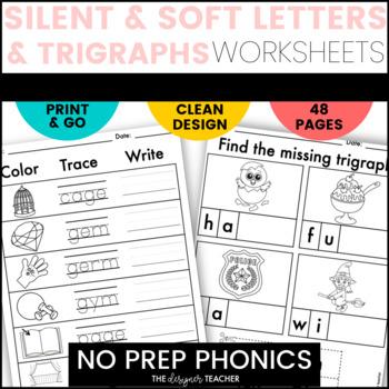 NO PREP Trigraphs, Silent Letters, & Soft Letters Letters