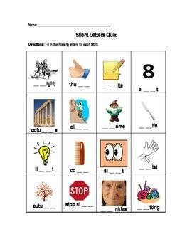 Silent Letters Quiz