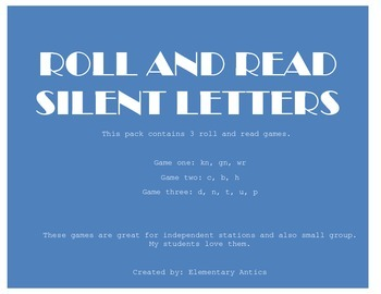 Silent Letters Roll and Read Pack