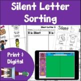 Silent Letters Sorting Print and Digital bundle