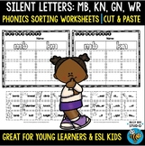 Silent Letters Sorts   Cut and Paste Worksheets