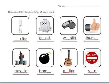 Silent Letters Worksheet 1 Englishlanguage Arts Pinterest 1 ...
