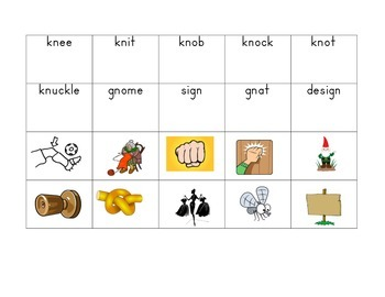 Silent Letters (kg, gn) Memory Game