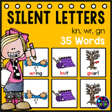 Silent Letters wr, kn, gn: Phonics Center Pocket Chart Activities