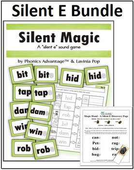 Silent E Bundle - Silent Magic Phonics Game and Magic Hand