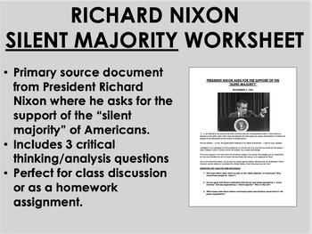 """""""Silent Majority"""" - Richard Nixon - 1960s - USH/APUSH"""