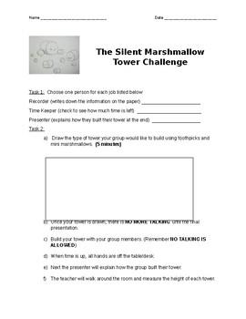 Silent Marshmallow Tower Challenge