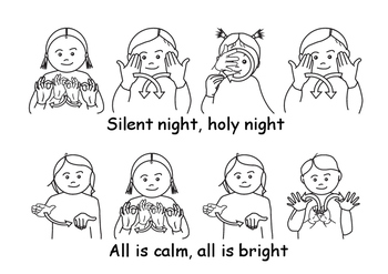 silent night christmas song with bsl signs british sign language - British Christmas Songs
