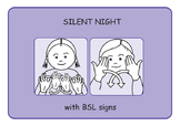 Silent Night Christmas Song with BSL Signs (British Sign L