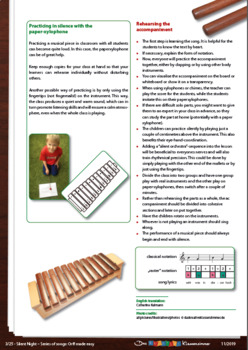 Silent Night - Orff accompaniment made easy for everyone
