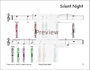 Silent Night - Recorder Christmas Sheet Music