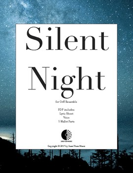Silent Night for Orff or Marimba Ensemble