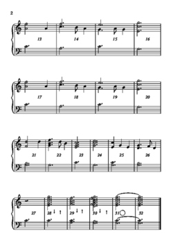 Silent Night, for two octaves of handbells