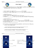 Silent Night worksheets