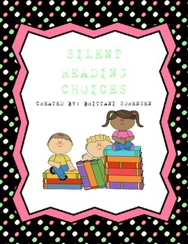 Silent Reading Choices Chart