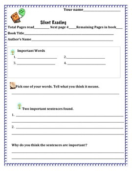 Silent Reading Form