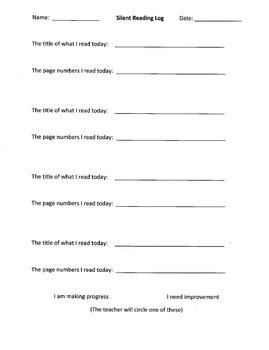 Silent Reading Log (Basic)