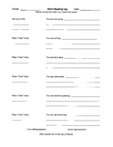 Silent Reading Log (Student Reflections)