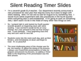 Silent Reading PowerPoint Timer Slides